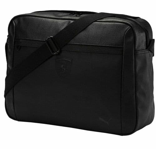 Puma Ferrari Shoulder Messenger Reporter Laptop Bag Black 075191-01 BNWT